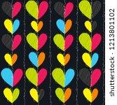 hearts seamless vector pattern... | Shutterstock .eps vector #1213801102