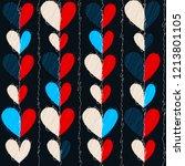 hearts seamless vector pattern... | Shutterstock .eps vector #1213801105