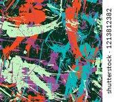 grunge seamless texture pattern ... | Shutterstock .eps vector #1213812382