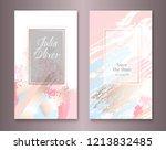 wedding arrangement cards... | Shutterstock .eps vector #1213832485