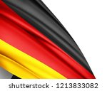 germany   flag of silk with... | Shutterstock . vector #1213833082