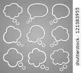 bubble for speech set | Shutterstock .eps vector #121383955