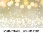 christmas light background. ... | Shutterstock . vector #1213851985