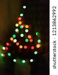 blurred christmas tree. red ...   Shutterstock . vector #1213862992