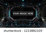 dark spaceship interior with... | Shutterstock . vector #1213882105