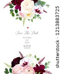 luxury fall flowers vector... | Shutterstock .eps vector #1213883725