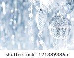 shiny silver christmas...   Shutterstock . vector #1213893865