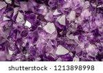 amethyst purple crystals. gems. ... | Shutterstock . vector #1213898998