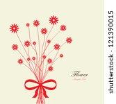 bouquet flower background | Shutterstock .eps vector #121390015