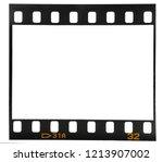 real macro photo of 35mm film... | Shutterstock . vector #1213907002