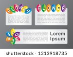 colorful uppercase flower font... | Shutterstock .eps vector #1213918735
