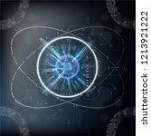 quantum computing  big data... | Shutterstock .eps vector #1213921222