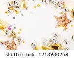 christmas frame. christmas... | Shutterstock . vector #1213930258