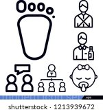 people related outline vector...
