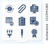 simple set of 9 icons related... | Shutterstock .eps vector #1213941385