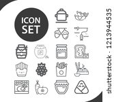 contains such icons as dumpling ... | Shutterstock .eps vector #1213944535