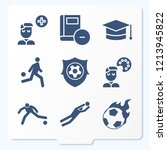 simple set of 9 icons related...   Shutterstock .eps vector #1213945822
