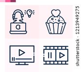 contains such icons as cupcake  ...