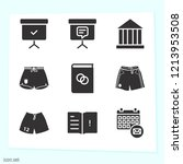 simple set of 9 icons related...   Shutterstock .eps vector #1213953508