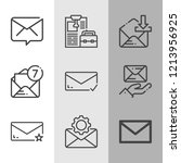 simple collection of envelope...   Shutterstock .eps vector #1213956925