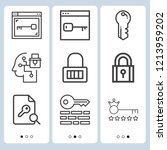 simple set of  9 outline icons... | Shutterstock .eps vector #1213959202