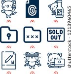 simple set of  9 outline icons... | Shutterstock .eps vector #1213960465