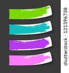 set of color stickers with... | Shutterstock . vector #121396738