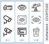 simple set of  9 outline icons... | Shutterstock .eps vector #1213972102