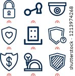 simple set of  9 outline icons... | Shutterstock .eps vector #1213974268