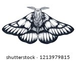 hand drawn butterfly tattoo.... | Shutterstock .eps vector #1213979815