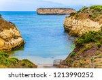 asphalt boat descent into the... | Shutterstock . vector #1213990252