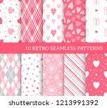 ten different seamless patterns....   Shutterstock .eps vector #1213991392