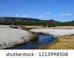 cliff geyser erupts  in upper... | Shutterstock . vector #1213998508
