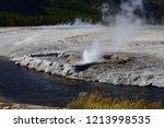 cliff geyser erupts  in upper... | Shutterstock . vector #1213998535