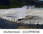 cliff geyser erupts  in upper... | Shutterstock . vector #1213998538