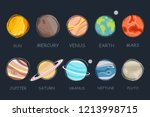 collection of planets in solar... | Shutterstock .eps vector #1213998715