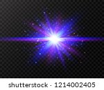 blue and violet glowing effect. ... | Shutterstock .eps vector #1214002405