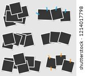 big set of square vector photo... | Shutterstock .eps vector #1214017798