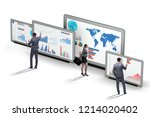 concept of business charts and... | Shutterstock . vector #1214020402