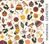 christmas holiday retro... | Shutterstock .eps vector #1214027515