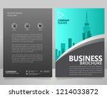 business brochure flyer vector... | Shutterstock .eps vector #1214033872