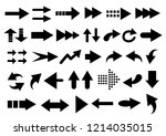 vector set of arrow shapes... | Shutterstock .eps vector #1214035015