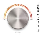 metal volume sound button. | Shutterstock .eps vector #121404766
