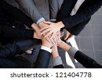 team work concept. business... | Shutterstock . vector #121404778