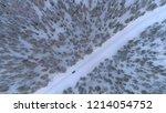 aerial top down blue car... | Shutterstock . vector #1214054752