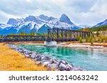 historic canmore engine bridge... | Shutterstock . vector #1214063242