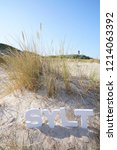 Photo Witk Sylt Letters In The...