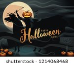 headless horseman. the hessian... | Shutterstock .eps vector #1214068468
