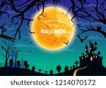 happy halloween vector... | Shutterstock .eps vector #1214070172