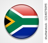 flag of south africa. round... | Shutterstock .eps vector #1214075095